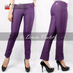 Legging Denim Standar Zetha - Violet