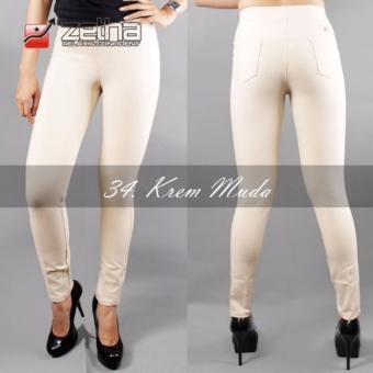 Cheapest Price Legging Katun Standar Zetha - Krem Muda sale - Hanya Rp112.023