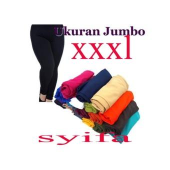 Celana Wanita Legging Polos Biru Dongker Standar Dan Jumbo4 Daftar Source · Legging JUMBO Panjang XXXL