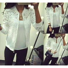 legiONshop-baju cewek  kemeja wanita  atasan wanita  pakaian wanita  kemeja wanita  jaket wanita JKT BRUKAT 2IN1(jaket+inner) white
