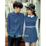Model Legionshop Baju Couple Dress Pasangan Kemeja Pasangan Dress Couple Dress Kotak Free Belt Benhur White Terbaru