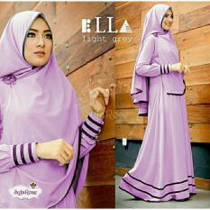 Beli Legionshop Baju Muslim Hijab Dress Muslim Busana Muslim Dress Maxi 2 In 1 Syfarose Syari Bergo Lavender Online Murah