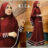 Spesifikasi Legionshop Baju Muslim Hijab Dress Muslim Busana Muslim Dress Maxi 2 In 1 Syfarose Syari Bergo Maroon Murah