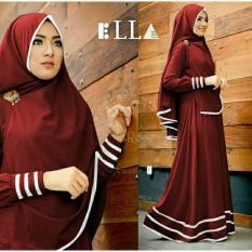 Beli Legionshop Baju Muslim Hijab Dress Muslim Busana Muslim Dress Maxi 2 In 1 Syfarose Syari Bergo Maroon Legionshop