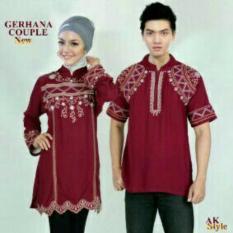 Toko Legionshop Baju Muslim Pasangan Muslim Couple Gerhana Maroon Murah Di Indonesia