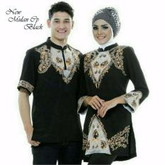 Harga Legionshop Baju Muslim Pasangan Muslim Couple Mulan Cp Black Fullset Murah