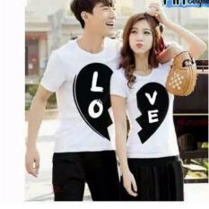 legiONshop-baju pasangan  Kaos pasangan  atasan couple  kaos couple BLACK LOVE (harga 2 kaos)