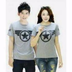 Dapatkan Segera Legionshop Baju Pasangan Kaos Pasangan Atasan Couple Kaos Couple Lengan Pendek Bintang Grey