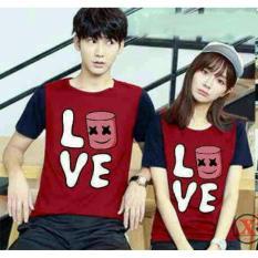 Kualitas Legionshop Baju Pasangan Kaos Pasangan Atasan Couple Kaos Couple Lengan Pendek Mellow Love Pd Red Legionshop