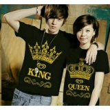 Legionshop Baju Pasangan Kaos Pasangan Atasan Couple Kaos Couple King Queen Pd Black Dki Jakarta Diskon
