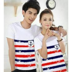 Harga Legionshop Baju Pasangan Kaos Pasangan Atasan Couple Kaos Couple Sailor Blur Pd White Terbaik