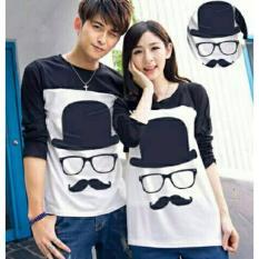 Harga Legionshop Baju Pasangan Kaos Pasangan T Shirt Couple Trendy Atasan Pria Dan Wanita Kumis Black Legionshop Ori