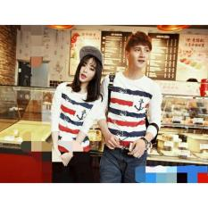 legiONshop-baju pasangan  Kaos pasangan  T-shirt couple  trendy  atasan pria dan wanita- SAILOR BLUR - white