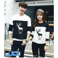 legiONshop-baju pasangan  Kaos pasangan  T-shirt couple  trendy  kaos pasangan  kaos couple RUSASNOW SPANDEX(harga 2 baju)