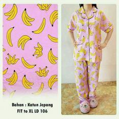 Harga Legionshop Baju Tidur Wanita Baju Tidur Piyama Wanita Setelan Baju Tidur Wanita Banana Baru