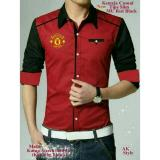 Jual Legionshop Best Quality Kemeja Casual Red Devil Bordir Saku Hidup Red Ori