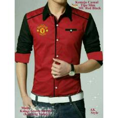 Legionshop Best Quality Kemeja Casual Red Devil Bordir Saku Hidup Red Legionshop Diskon 30