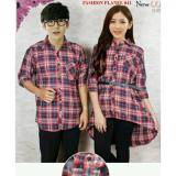 Harga Legionshop Best Quality Kemeja Dress Pasangan Couple Dress Fashion Flanel Free Belt Red Legionshop Online