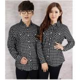 Harga Legionshop Best Quality Kemeja Pasangan Couple Shirt Flanel G 118 Black New