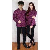 Diskon Produk Legionshop Best Quality Kemeja Pasangan Couple Shirt Flanel G 120 Red