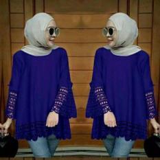 legiONshop-blouse jumbo wanita  atasan wanita  big size  baju ukuran besar  baju cewek ARSY LASERCUT benhur