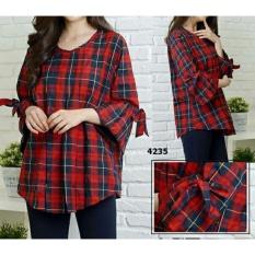 legiONshop-blouse jumbo wanita  baju ukuran besar  atasan wanita  baju cewek  pakaian wanita SALWA BERRY maroon