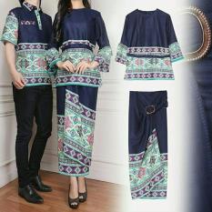Toko Legionshop Busana Batik Couple Bellavira Navy Legionshop