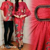 Jual Legionshop Busana Batik Couple Valencia Red Branded Original