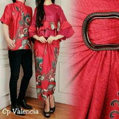 Jual Legionshop Busana Batik Couple Valencia Red Original