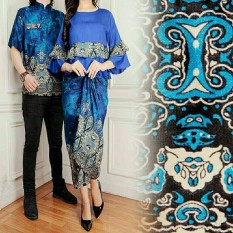 legiONshop-busana batik dress pasangan dress couple baju batik couple SANIA (harga pasangan)