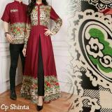 Legionshop Busana Batik Dress Pasangan Dress Couple Baju Batik Couple Shinta Sudah Harga Pasangan Promo Beli 1 Gratis 1