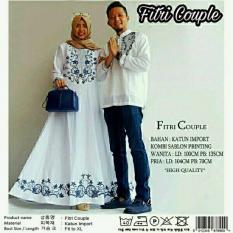 Jual Legionshop Busana Muslim Couple Fitri White Branded