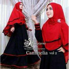 Toko Legionshop Busana Muslim Dress Maxi 2 In 1 Cammelia Bergo Black Legionshop Di Dki Jakarta