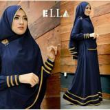 Harga Legionshop Baju Muslim Hijab Dress Muslim Busana Muslim Dress Maxi 2 In 1 Syfarose Syari Bergo Navy Terbaik