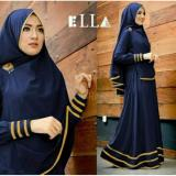 Beli Legionshop Baju Muslim Hijab Dress Muslim Busana Muslim Dress Maxi 2 In 1 Syfarose Syari Bergo Navy Dengan Kartu Kredit