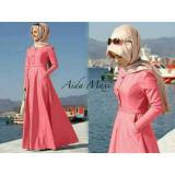 Spesifikasi Legionshop Busana Muslim Wanita Dress Maxi Baju Cewek Hijab Dress Wanita Aida 2In1 Peach Yg Baik