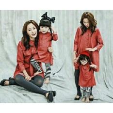 legiONshop-dress ibu dan anak  dress couple  dress pasangan  baju couple HOLANDA red (mom and kid)