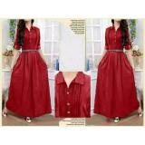Toko Legionshop Dress Maxi Dress Wanita Pakaian Wanita Maxi Wanita Baju Wanita Omneset Maroon Termurah