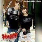 Beli Legionshop Dress Pasangan Couple Dress Salur Abjad Black Kredit Dki Jakarta