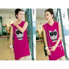 Toko Legionshop Dress Wanita Pakaian Wanita Hoodie Dress Dress Cewek Baju Wanita Owl Free Belt Legionshop Dki Jakarta