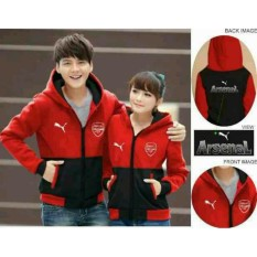 legiONshop-Jaket pasangan  baju pasangan  jaket pria dan wanita  jaket kembar  Jaket couple  jaket kembar jaket club bola ARSNAL red black (harga sudah 2 jaket)