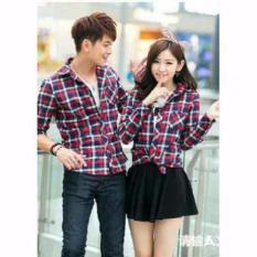 Jual Legionshop Hot Promo Kemeja Pasangan Kotak Kotak Couple Shirt Square S Red Murah Indonesia