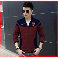 legiONshop-jaket club bola  jaket casual  jaket cowok  jaket pria terbaru  jaket pria BARCELONA maroon