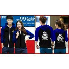 legiONshop-Jaket pasangan  baju pasangan  jaket pria dan wanita  jaket kembar  Jaket couple-REAL MADRID-black benhur