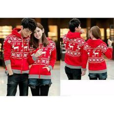 Harga Legionshop Jaket Pasangan Baju Pasangan Jaket Pria Dan Wanita Jaket Kembar Jaket Couple Snowflake Red Di Dki Jakarta