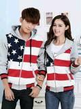 Jual Legionshop Jaket Pasangan Jaket Couple Flag Star Grey Antik