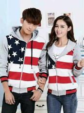 Harga Legionshop Jaket Pasangan Jaket Couple Flag Star Grey Satu Set