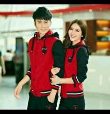 Harga Legionshop Jaket Pasangan Jaket Couple Sport Red Asli
