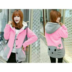 Legionshop Jaket Wanita Hoodie Wanita Baju Cewek Catty Pink Legionshop Diskon 40
