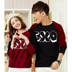 legiONshop-Kaos couple  baju pasangan  kaos pasangan  EXO KIMONO maroon black